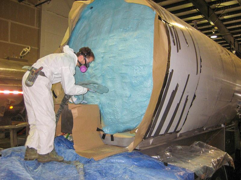 Element Spray Foam - Steel Milk Tanker Agricultural
